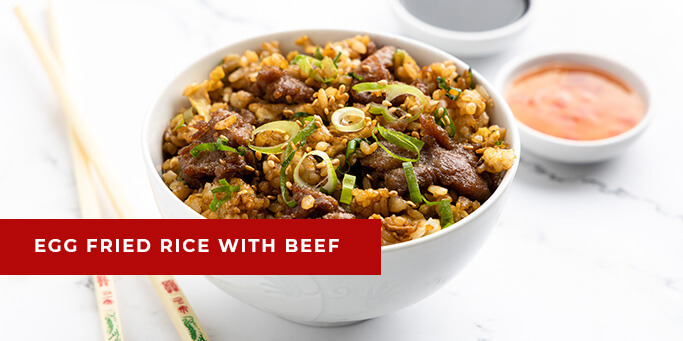 Egg Fried Rice with Beef