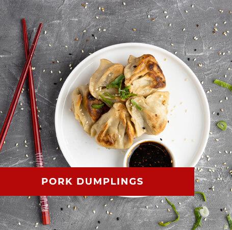 Image of Pork dumplings with soy sauce