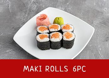 6 pieces of Maki Rolls