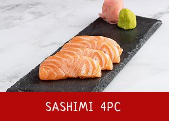 4 pieces of sashimi
