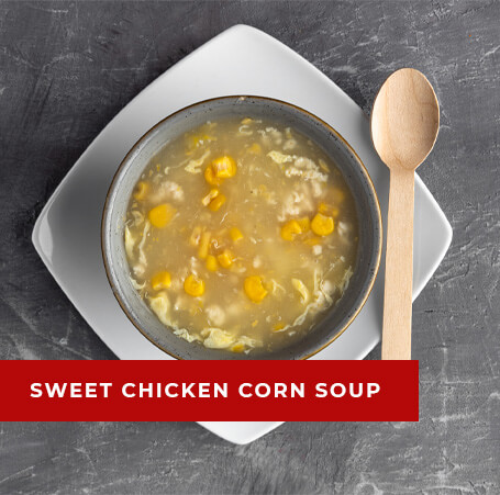 Image of a bowl of sweet chicken corn soup