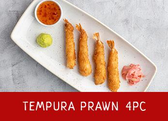 4 pieces of Tempura prawns